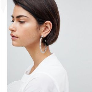 ASOS Big Diamond Hoops